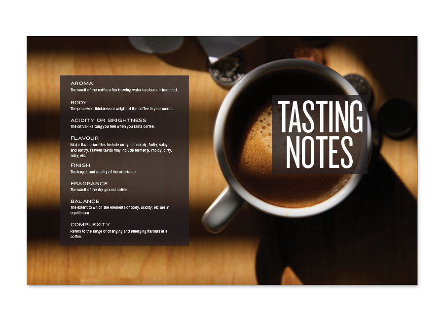 A Guide to Coffee Tasting Notes