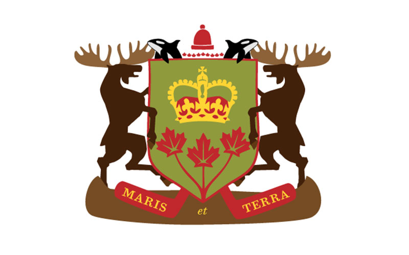 Canadian Coat of Arms with Moose and Orcas