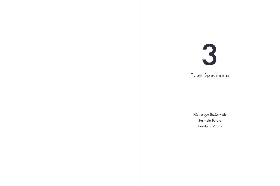3 Type Specimens