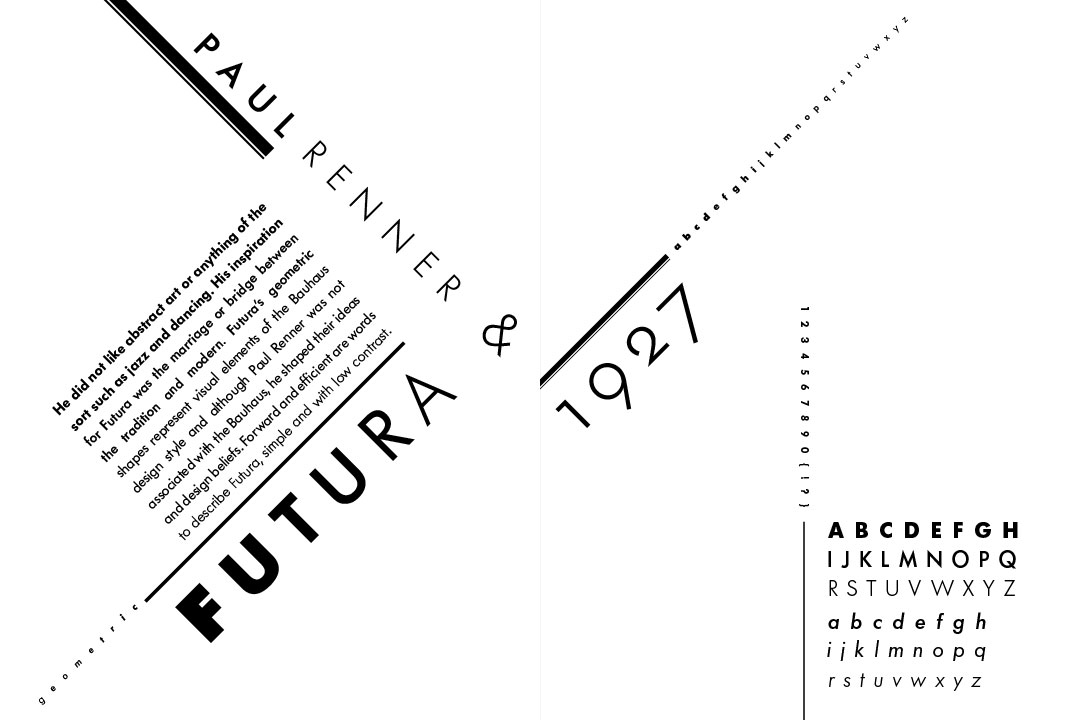 3 Type Specimens - Berthold Futura