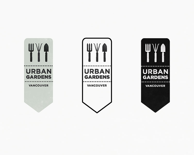 Urban Gardens Vancouver Logo - Black and White Version